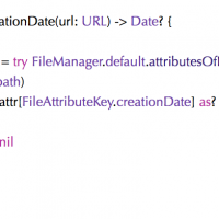 Get the modification (or creation) date of a file
