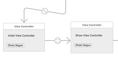 macOS Storyboard Segues