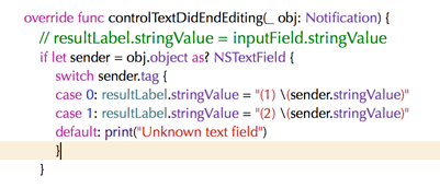 Text field actions and NSTextFieldDelegate – Extelligent Cocoa