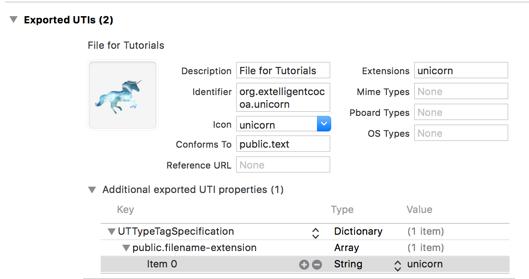 Filetypes and UTIs