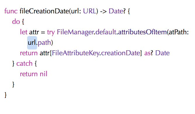 Get the modification (or creation) date of a file – Extelligent Cocoa